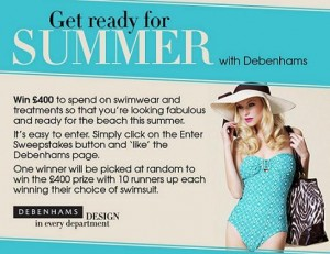 Get beach ready with Debenhams