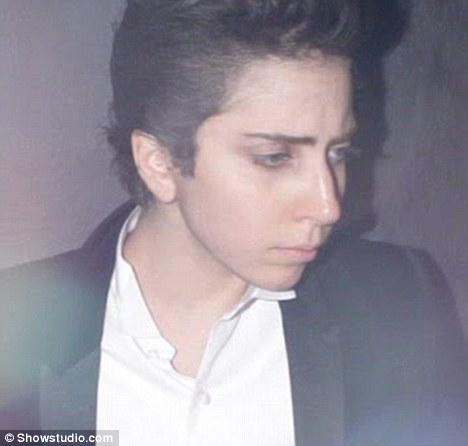 Lady Gaga poses as a man?