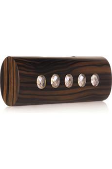 Celestina macassar ebony wooden clutch