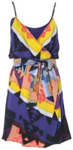 alice + olivia tribal print dress