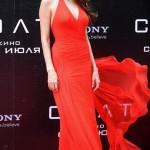 Angelina dazzles in Atelier Versace