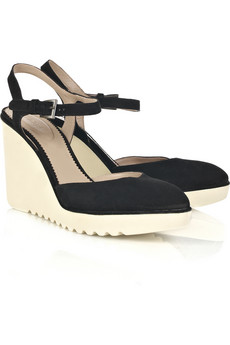 Lunchtime buy: Chloé rubber wedge suede sandals