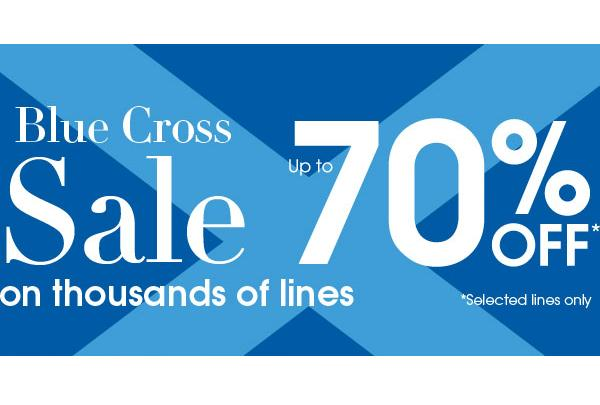 Up to 70% off the Debenhams Blue Cross Sale!