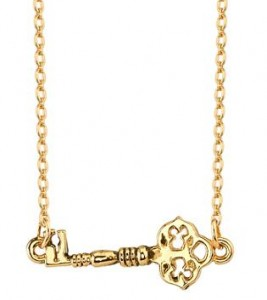 House of Harlow mini gold key necklace
