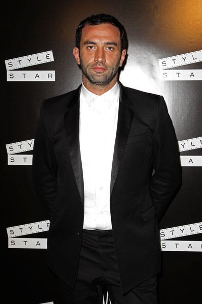 Riccardo Tisci on the front row