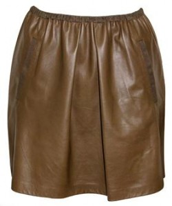 Sea NY leather skirt