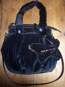 See by Chloe small Matina velvet bag