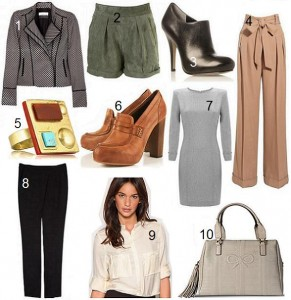10 Hottest items this week: work wear
