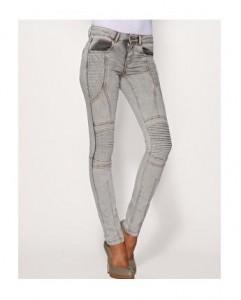 ASOS Pleat Biker Skinny Jeans
