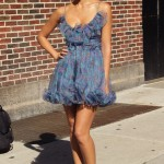 Jessica Alba on the David Letterman Show