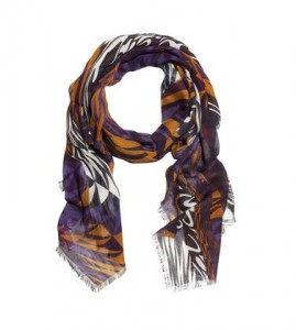 Matthew Williamson graphic printed scarf