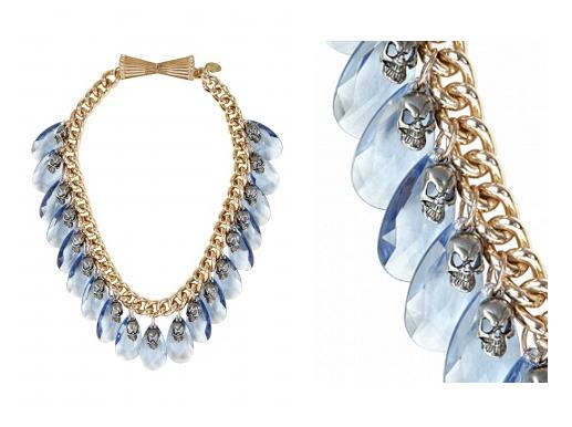 Lunchtime buy: Mawi Blue Faceted Teardrop Skull Necklace
