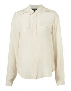 Topshop silk military pocket shirt