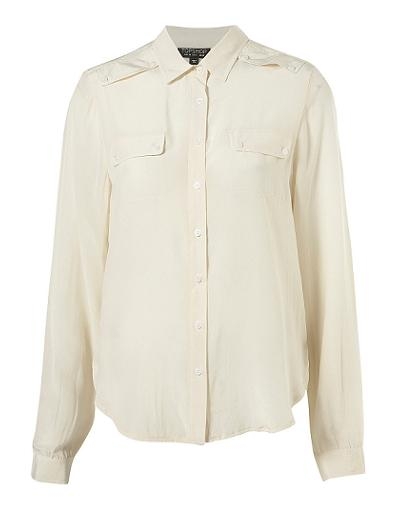 Lunchtime buy: Topshop silk military pocket shirt