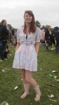 Jess wearing vintage
