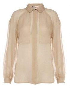 Jaeger silk pocket blouse