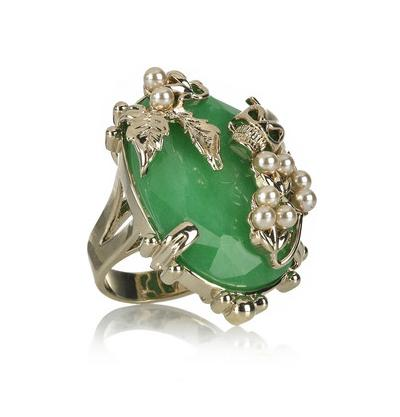 Lunchtime buy: Mawi gold-plated jade and skull ring