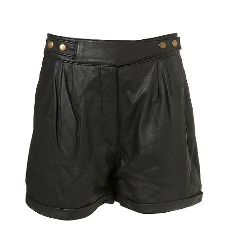 How to wear it: leather shorts