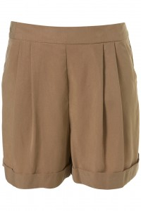 Lunchtime buy: Topshop camel cupro shorts