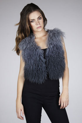 Lunchtime buy: Warehouse Dip Dye Mongolian Wool Gilet