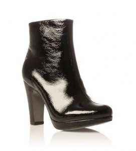 Carvela Sophia black patent boot