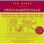 Ted Baker sample sale!