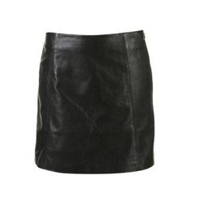 Topshop A-Line leather skirt
