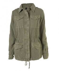 Topshop Washed Army Jacket