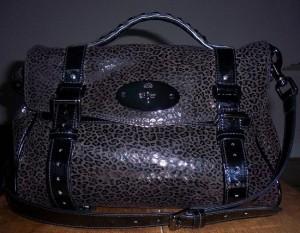 Mulberry mini patent leopard Alexa