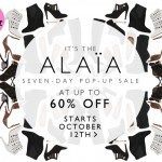 Up to 60% off Alaïa shoes!
