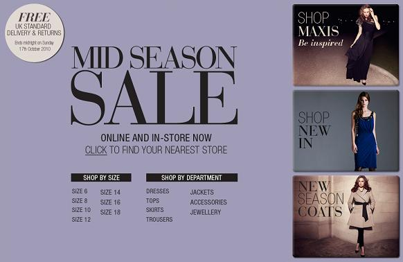 Mid-season sale at Coast!