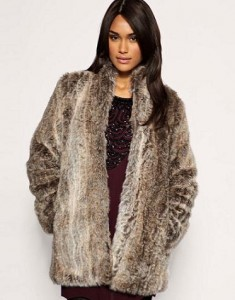 French Connection faux fur coat