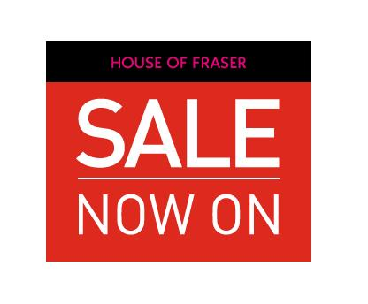 Up to 50% off at House of Fraser, plus an extra 20% off selected lines!