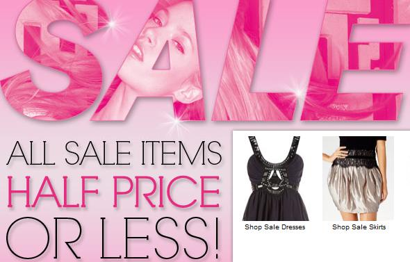 Lipsy's half price sale, plus 10% off!