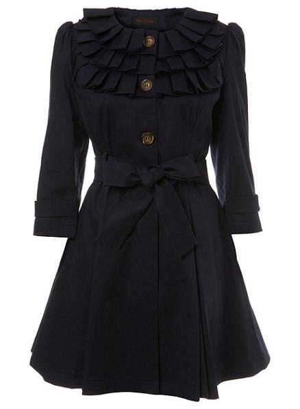 Lunchtime buy: Miss Selfridge navy ruffle detail mac