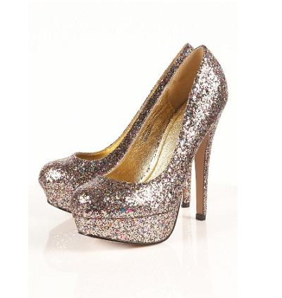 Party shoes under £100: Topshop Sakura glitter platform shoes