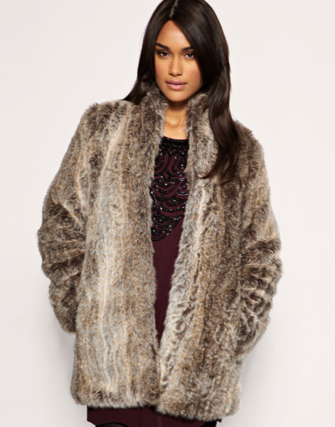 Lunchtime buy: French Connection long line faux fur coat
