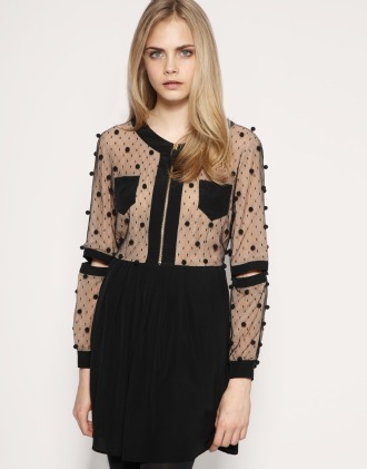 Party dresses under £250: TBA pom pom silk dress