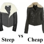 Steep vs Cheap: shearling aviator jacket
