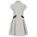Lunchtime buy: Torres charcoal polkadot dress with bows
