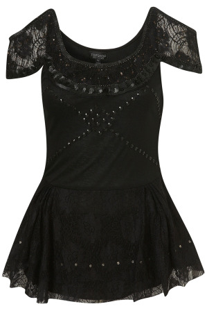 Lunchtime buy: Topshop embellished lace cut out top