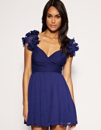 Party dresses under £100: ASOS bow shoulder baby doll dress