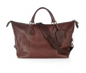 Luxury gifts for him: Barbour leather bag