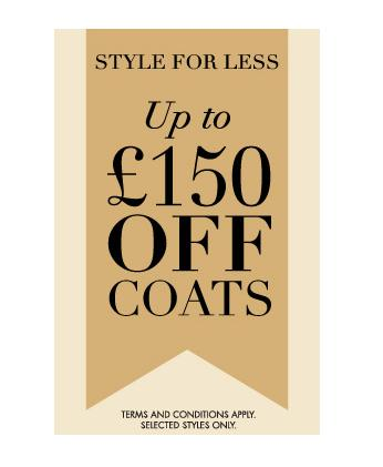 Up to £150 off coats at Jaeger!