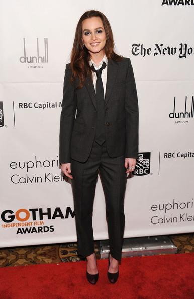 Leighton Meester in Thom Browne