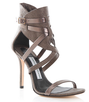 Party shoes over £250: Camilla Skovgaard metallic leather sandals