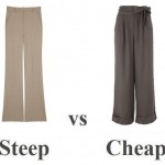 Steep vs Cheap: wide leg trousers