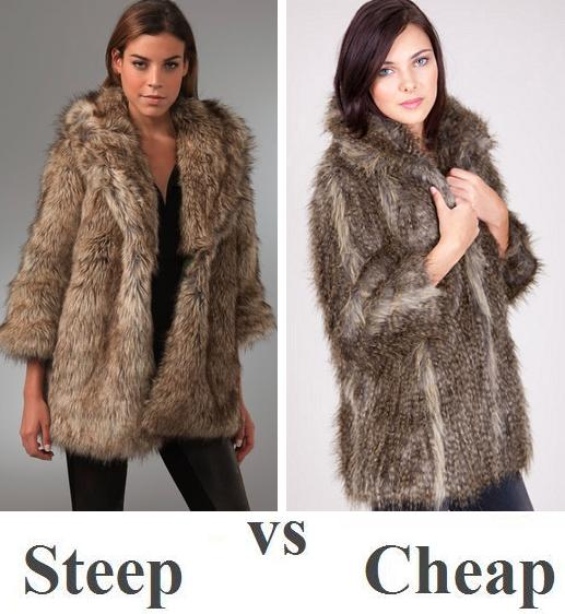 Steep vs Cheap: faux fur coat