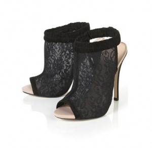 Topshop Renee lace peeptoes