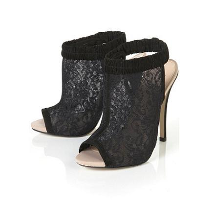 Party shoes under £100: Topshop Renee lace mesh heels